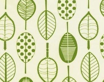 Robert Kaufman GreenSTYLE Panda Prints Leaf Green Cotton/Bamboo (Out of Print) Fabric - Half Yard
