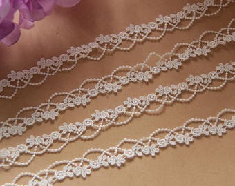 4 colors available floral embroidery lace trims ribbons jewelry making clothing designs fabrics trims supplies x2yards LXGA99