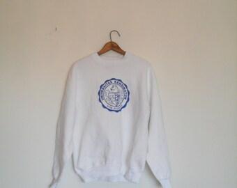 vintage 80s university sweatshirt