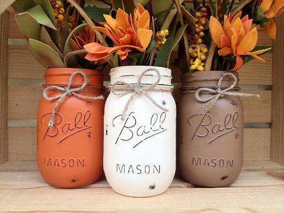 Pick hand painted mason jars autumn home decor fall