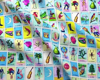 Loteria Fabric - Loteria By Jellymania - Loteria Cotton Fabric By The Yard With Spoonflower