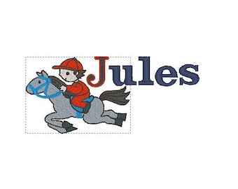 Embroidery name Jules