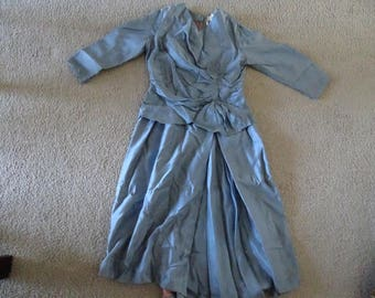 VINTAGE Baby Blue MARGEAUX French Swing Dress