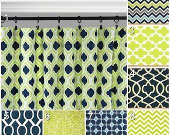 Navy Window CurtainsLime Green DrapesBlue Grey Curtain PanelsAqua CurtainGrey Trellis Lattice CurtainBlue Kitchen Curtains