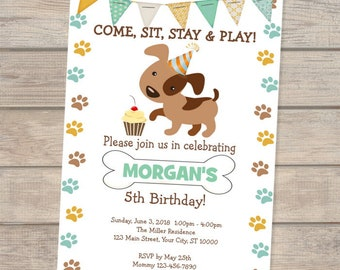 Dog invitations etsy puppy invitation puppy birthday invitation doggy invitation dogs birthday invitation puppy birthday party invitations puppies invite filmwisefo