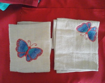 Butterfly towels 1
