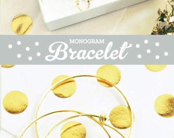 Bridal Jewelry Set Gold Bridesmaid Jewelry Bridal Shower Gifts for Bride Bridal Bracelet Gold Bridesmaid Jewelry Gold Initial (EB3144)