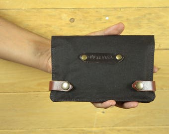 Waxed Canvas Tobacco/tobacco pouch/cigarette case/smoking Accessories/pipe case/Tobacco Case/Moleskine case/Passport case.
