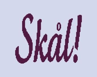 Skal Cross Stitch Pattern PDF Digital Download