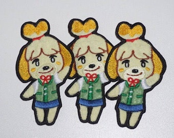 Isabelle Animal Crossing handmade Iron on Embroidery Patch