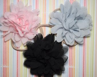Set of 3 chiffon headbands - one size