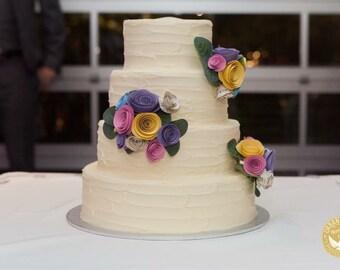 CUSTOM Paper Flower Cake Toppers