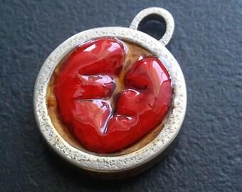 Broken Heart pendant. Low price.