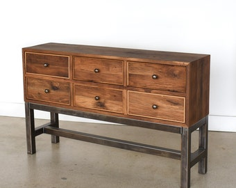 Rustic Reclaimed 6-Drawer Storage Buffet