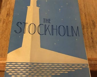Vintage THE STOCKHOLM RESTAURANT Menu, 1947! Rare!