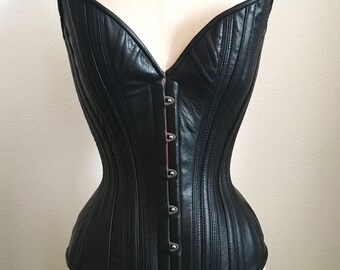 PUIMOND PY15 Wicked Plunge Leather Fetish Corset Size 22 NEW In-stock