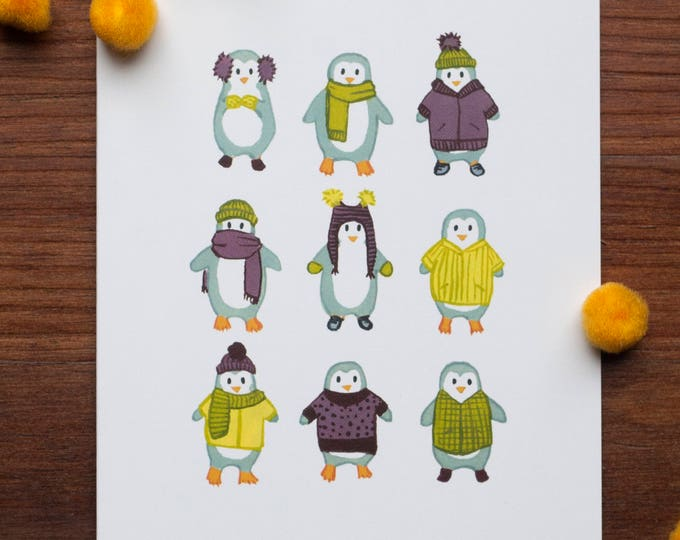 Penguin Sweater Weather Greeting Card