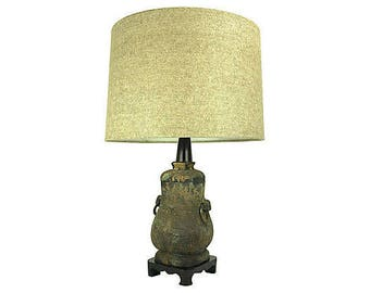 Antique Chinese Vessel Table Lamp