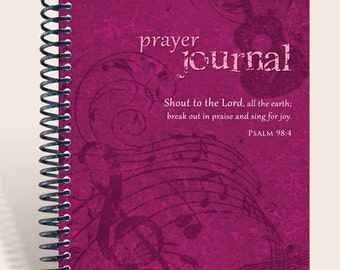 Christian Gift / Personalized Prayer Journal - Musically Inclined - Psalm 98:4/
