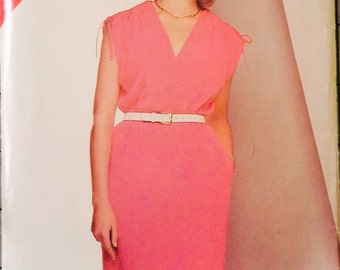 See and Sew 5393 Misses' Dress Pattern, UNCUT, Size 14-16-18, Casual Dress, Vintage 1985, Loose Fitting, Straight Dress, Retro, Flashback