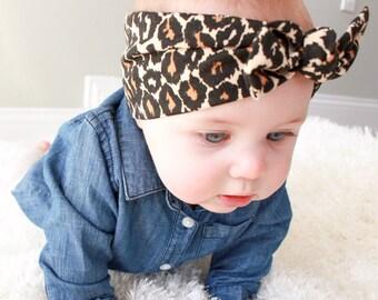 FINAL SALE: Leopard top knot headband