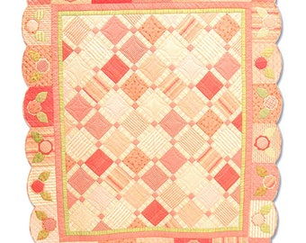 Pretty N' Pink Quilt Pattern Daisy and Dell Throw Lap Wall Pieced Patchwork RARE!