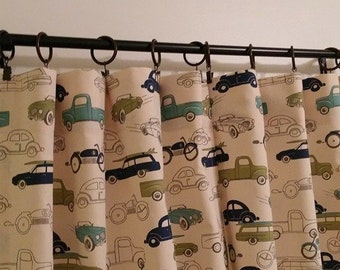 Two Curtain Panels Cars Your Size Choice