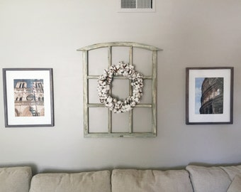 Medium - Handcrafted Wood Window Frame Rustic Wall Art 26 in x 35inch approx. Super low shipping!. Simple assembly needed.