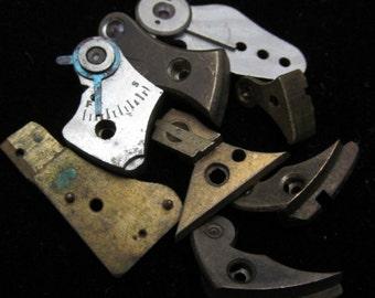 Antique Vintage Steampunk Unusual Pocket Watch Balance Cocks Altered Art Industrial K 69