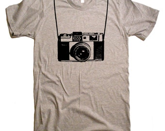 Camera with Printed Straps T-Shirt Funny Shirts Camera Shirt Gifts For Photographers Shoot Pictures Funny Tshirts Mens T-Shirts Graphic Tee