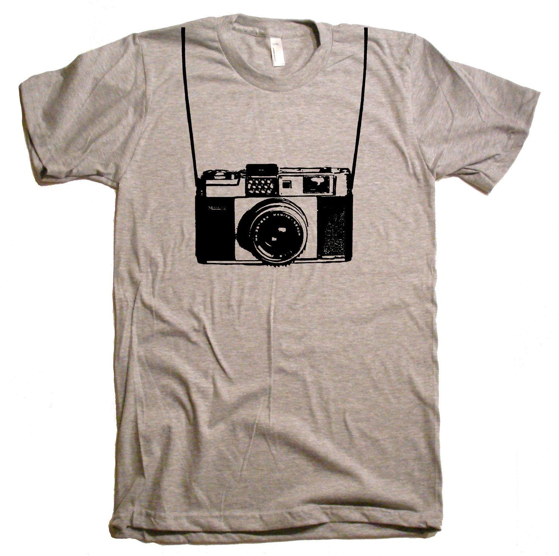 Camera with Printed Straps T-Shirt Funny Shirts Camera Shirt