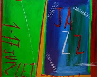 1988 Montreux Jazz Festival Poster, by Nicola di Maria