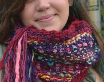 Knitting Loop Scarf : Knitted loop scarf etsy