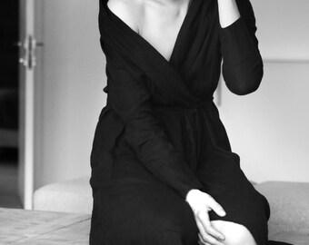 Handmade Linen robe. Natural linen robe. Bathrobe. Homewear. Natural bathrobe. Black bathrobe. Cape.Linen cape. Linen dress.