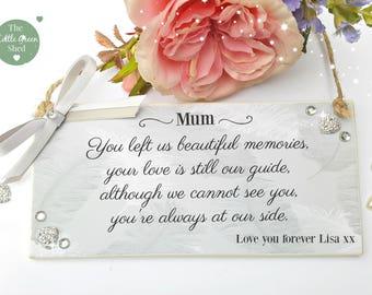 Bereavement sign Memorial Plaque Personalised Keepsake