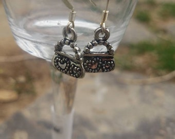 Tiny purse charm earring