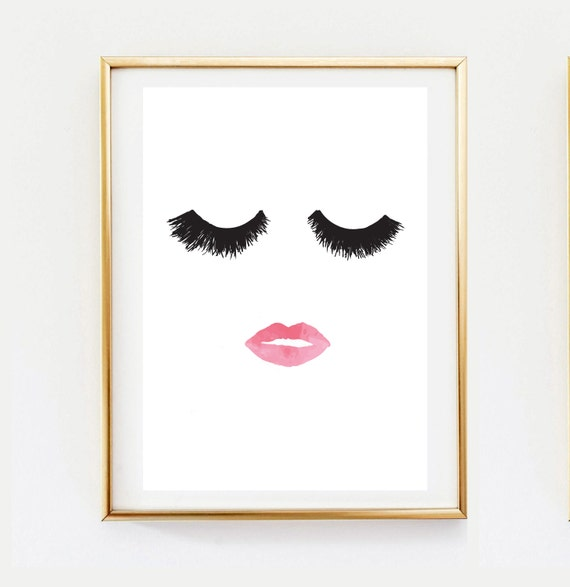 Makeup print wall decor home decor wall art minimalist for Minimalist art decor