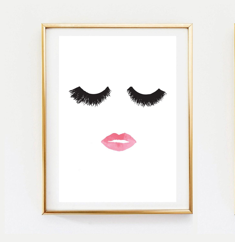 makeup print wall decor home decor wall art minimalist