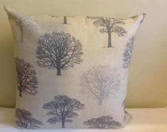 """Modern 16"""" grey, gray, tree cushion cover, scatter cushion, pillow case"""