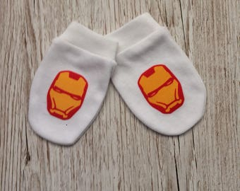 Iron Man Inspired Baby Scratch Mitts