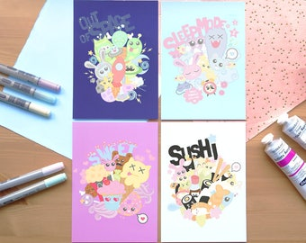 Collages Set - Art Print/Postcard