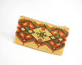 Rare Vintage Women's Wallet beads 1960s, Beaded Wallet, wallet, Vintage Beaded Purse, Vintage Coins Purse, Gift for Her, Old purse.