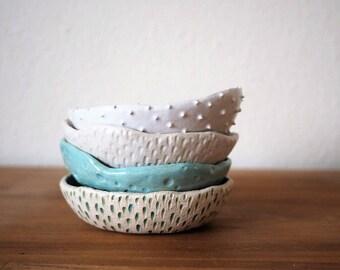 Türkis Ring Schale Keramik Schale Keramik Teller ~ strukturelle Keramik Keramik Teller Schmuck Schale Keramik Teller Schmuck Gericht moderne Ring Gericht