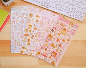 Kawaii Japanese Teddy Bear Stationery Scrapbook Stickers Craft Supplies