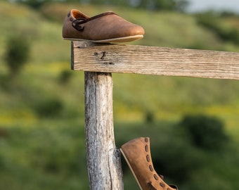 Medieval Low Shoes; XIII Century Women's Flat Shoes; Slip-on Shoes; Authentic Look Shoes; Medieval Slip-on Shoes