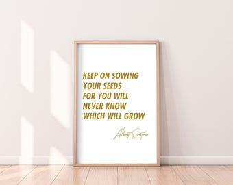 ALBERT EINSTEIN QUOTE - Imagination, Digital Print, Home Decor, Gift for men, gift for her, Motivational Quote, typography poster, wall art