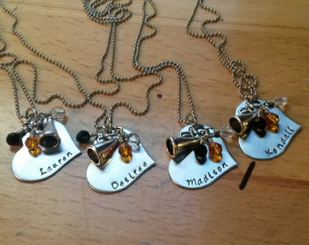 Hand Stamped Personalized Cheer Necklace - x12 NECKLACES -