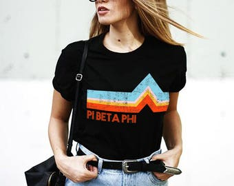 Pi Beta Phi Rainbow Mountain Tee / pi beta phi shirt / greek gifts apparel / greek sorority t shirts