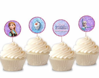Printable Frozen Cupcake Toppers