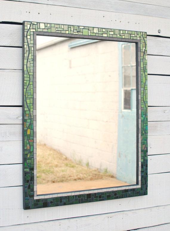 Gran espejo decorativo espejo de la pared de mosaico marco